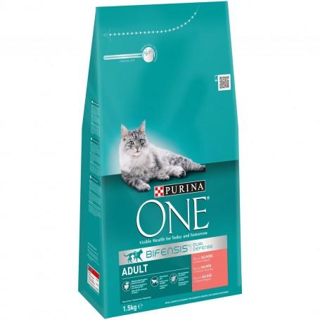 Pienso Purina One Gato Adulto rico en Salmón y Cereales Integrales