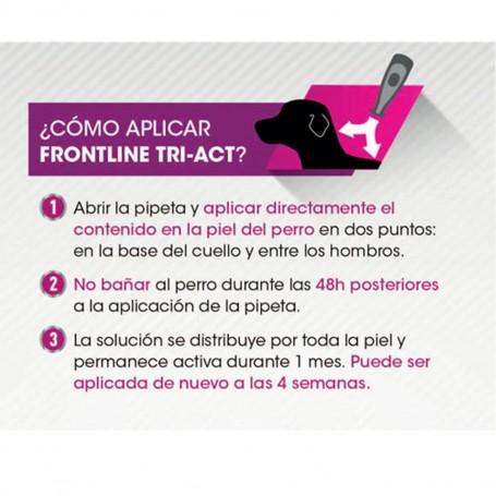 Pipetas Frontline Tri-Act 3 para perros