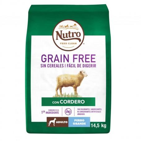 Pienso Nutro Grain Free Adulto Razas Grandes Cordero