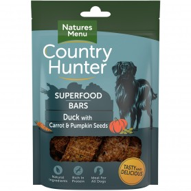 NM Country Hunter Superfood Bars Pato Con Zanahoria Y Semillas De...