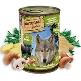 Natural Greatness Ternera Angus con setas, jengibre y romero Perro...