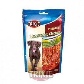 Premio de Batata y Pollo, 100 g, Snacks para perros, golosinas suaves