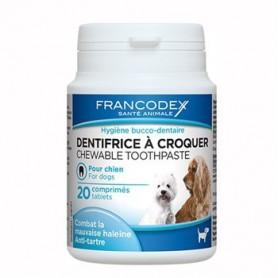 Francodex Dentrífrico en Pastillas, higiene bucal para perros