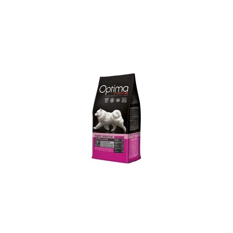 Optima Nova Puppy Sensitive Salmon & Potato, pienso para perros naturales