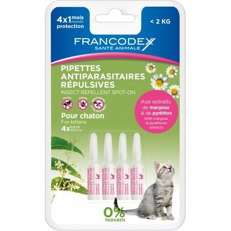 Francodex Pipetas Repelentes Gatitos