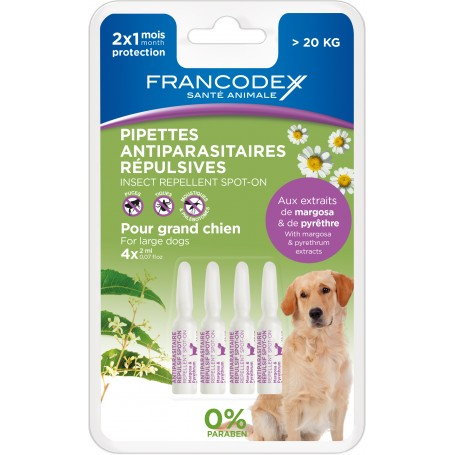 Pipetas Francodex antiparasitarios para perros