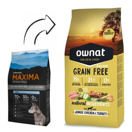 Máxima Grain Free Junior, en Piensoymascotas.com variedad de piensos