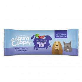 snacks naturales Edgard & Cooper, premios sin cereales con vacuno, fresa y mango