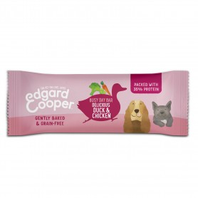 snacks Edgard & Cooper, premios sin cereales con pato, pollo, calabaza y plátano