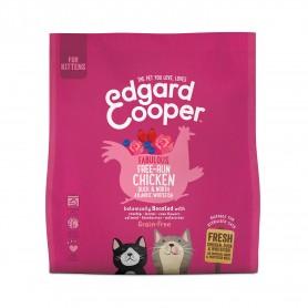 Pienso Edgard & Cooper, pienso sin cereales con pollo, pato y pescado blanco frescos para gatitos