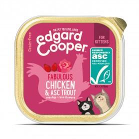 Edgard & Cooper, tarrinas sin cereales con pollo y trucha ASC para...