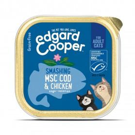 Edgard & Cooper, tarrinas sin cereales con pollo y bacalao MSC para...