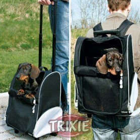 Trolley-Mochila para cães em nylon