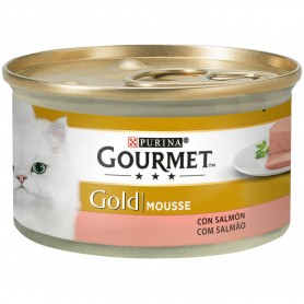 comida húmeda para gatos Purina Gourmet Gold Mousse Salmón