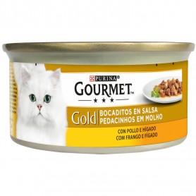 Purina Gourmet Gold Bocaditos en Salsa con Pollo/Hígado