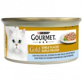 Purina Gourmet Gold Doble Placer con Peces del Océano y Espinacas
